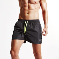 Nylon Men Shorts Solid