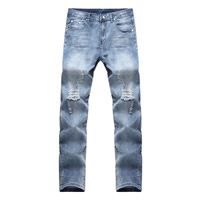 Denim Men Jeans, different size for choice, frayed, Solid, more colors for choice, Sold By PC