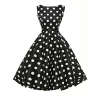 Spandex   Polyester One-piece Dress printed different pattern for choice white and black