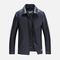 PU Leather Men Coat Solid Sold By PC