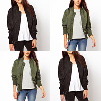 Polyester Women Jacket Solid Sold By PC
