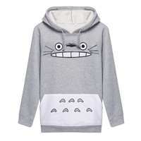 Cotton Women Sweatshirts printed Cartoon grey Sold By PC