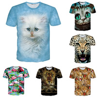 Polyester   Cotton Men Short Sleeve T-Shirt printed different color and pattern for choice Sold By PC