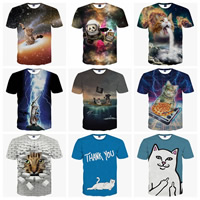 Polyester   Cotton Men Short Sleeve T-Shirt printed different color and pattern for choice