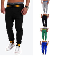 Polyester   Cotton Men Casual Pants printed patchwork