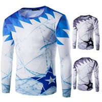 Milk Silk Men Quick Dry Tops printed geometric