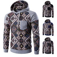 Polyester & Cotton Men Sweatshirts, different size for choice, printed, patchwork, more colors for choice, Sold By PC