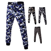 Polyester & Cotton Men Casual Pants, different size for choice, printed, camouflage, more colors for choice, Sold By PC