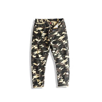Denim Men Casual Pants, different size for choice & loose, printed, camouflage, army green, Sold By PC