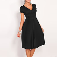 Spandex & Polyester One-piece Dress, different size for choice & knee-length, Solid, more colors for choice, Sold By PC