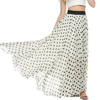 Chiffon Skirt ankle-length printed different color and pattern for choice Sold By PC