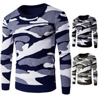 Cotton Men Sweater knitted camouflage