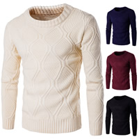 Cotton Men Sweater, different size for choice & thermal, knitted, Solid, more colors for choice, Sold By PC