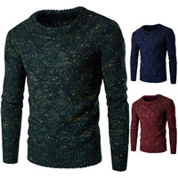 Polyester   Cotton Men Sweater thermal knitted geometric Sold By PC
