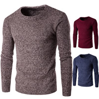 Cotton Men Sweater thermal knitted Solid Sold By PC