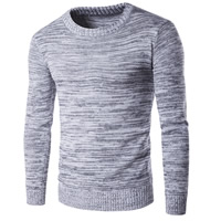 Cotton Men Sweater, different size for choice, knitted, Solid, grey, Sold By PC