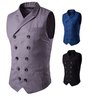Polyester Men Vest Solid Sold By PC