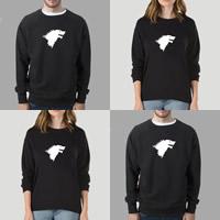 Cotton Plus Size Unisex Sweatshirts loose   unisex printed Sold By PC
