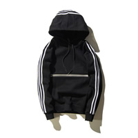 Cotton reflective Men Sweatshirts more thicker and more wool   loose printed letter black Sold By PC