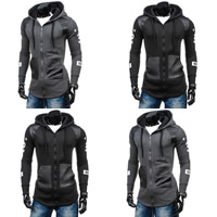 Polyester   Cotton Men Coat patchwork Sold By PC