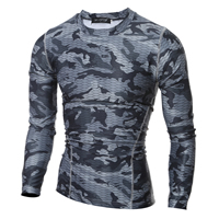 Milk Silk Men Quick Dry Tops printed camouflage