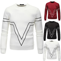 Polyester Men Sweatshirts, different size for choice, printed, geometric, more colors for choice, Sold By PC