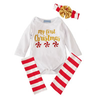 Cotton Unisex Children Clothing printed letter red and white