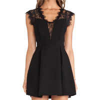 Polyester Sexy One-piece Dress, different size for choice & hollow, patchwork, more colors for choice, Sold By PC