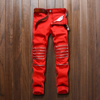Cotton Men Pencil Pants, different size for choice, patchwork, more colors for choice, Sold By PC