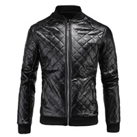 PU Men Jacket, different size for choice, Solid, more colors for choice, Sold By PC