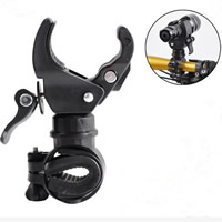 Iron & ABS Flashlight Mount Holder, Solid, black, Sold By PC