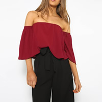 Cotton Short Sleeve Nightclub Top backless tube Solid