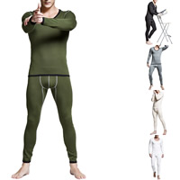 Cotton Men Thermal Underwear Sets more thicker and more wool Solid Sold By Set