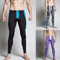 Nylon & Cotton Men Leggings breathable patchwork Sold By PC