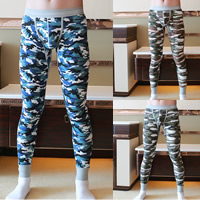Spandex & Cotton Men Leggings breathable printed camouflage Sold By PC