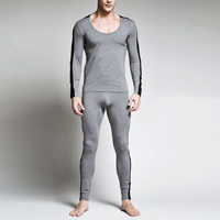 Cotton Men Thermal Underwear Sets patchwork Sold By Set