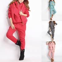 Cotton Women Casual Set, different size for choice & three piece, vest & Pants & top, printed, letter, more colors for choice, Sold By Set