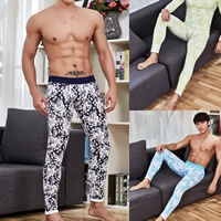 Cotton Men Thermal Long Johns breathable printed leaf pattern Sold By PC