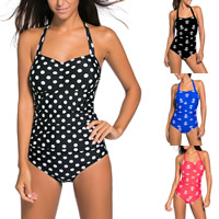 Spandex & Polyester One-piece Swimsuit, different size for choice & padded, different color and pattern for choice, Sold By PC