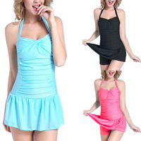 Nylon Plus Size One-piece Swimsuit, different size for choice & padded, Solid, more colors for choice, Sold By PC