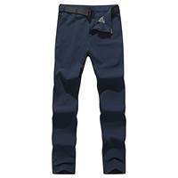 Nylon   Spandex Plus Size Men Quick Dry Pants with belt Solid