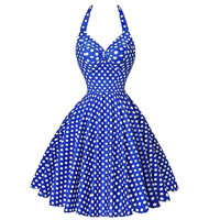 Polyester   Cotton One-piece Dress printed dot