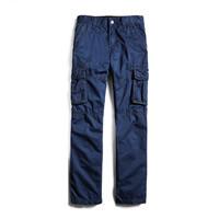Cotton Men Casual Pants plain dyed patchwork