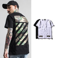 Spandex   Polyester   Cotton Men Short Sleeve T-Shirt printed camouflage Sold By PC