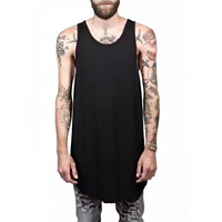 Cotton Men Athletic Tank loose plain dyed Solid Sold By PC