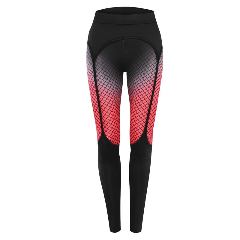 Spandex   Polyester Women Yoga Pants printed plaid black