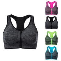 Full cup Nylon Sport Sport Bra patchwork Sold By PC