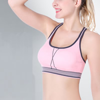 Full cup Nylon Sport Sport Bra flexible breathable patchwork Sold By PC