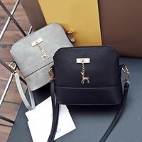 PU Leather & Polyester Shoulder Bag different styles for choice with Zinc Alloy Solid Sold By PC