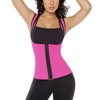 Spandex Plus Size Women Body Shaper Vest shaped patchwork Solid Sold By PC